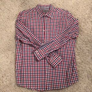 Red and Blue Checked Button Down